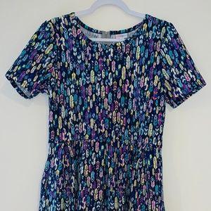 LulaRoe, Feather pattern dress, SZ 2XL